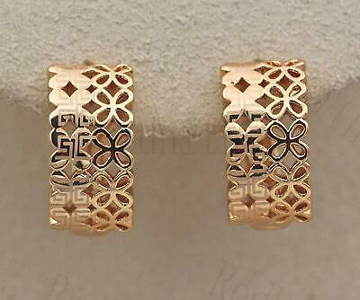 18K Gold Filled- Laser Carved Geometry Hollow 2-Layer Butterfly Lady Earrings DS