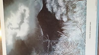 larry dodson winter at chimney tops signed numbered limited edition print
