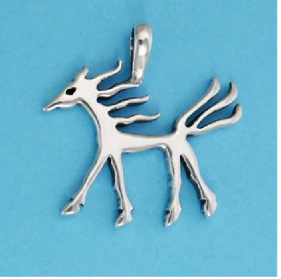 ANCIENT HORSE IMAGE Pendant  Fine Jewelry - .925 Sterling Silver or Gold Vermeil