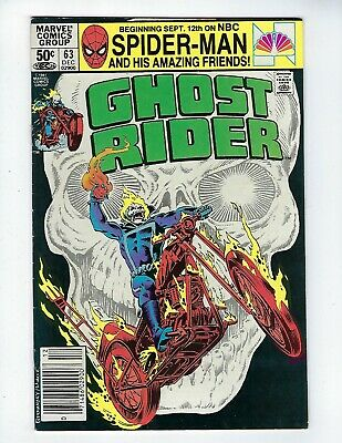 GHOST RIDER (Vol.1) # 63 (Cents Issue, DEC 1981), VF