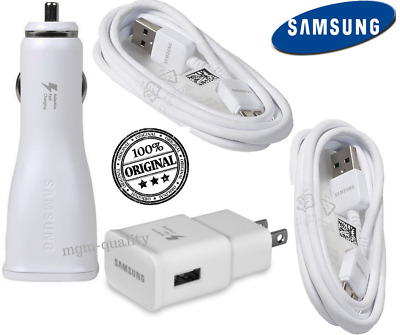 Galaxy S5 Note 3 Original Samsung Car Rapid Wall Charger Micro USB 3.0 Cable