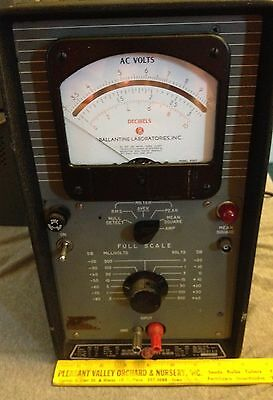 Vintage Used Ballantine Laboratories R-A-P Voltmeter - Model 321 - Powers Up VGC