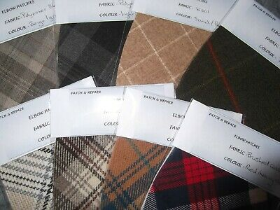 TRIMMINGS IN 11 FANTASTIC COLORS WOOL  FABRIC OVAL ELBOW PATCHES