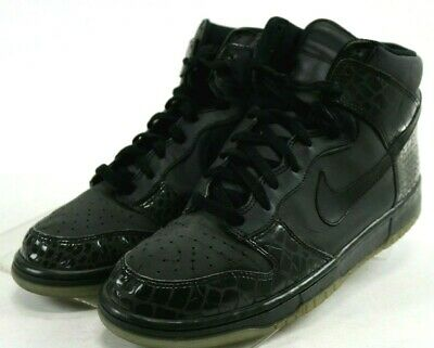 official photos 31cb0 4b265 Nike Dunk High 2007 Men s Reflector Croc Basketball Shoes Size 11.5 Black