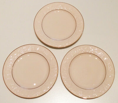 Lenox Fruits of Life China Bread & Butter Plate Gold Trim (Set of 3) 6 3/8 in