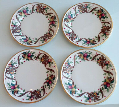 """Lenox Holiday Tartan China Accent Luncheon Plate 9 3/8"""" (Set of 4 plates)"""