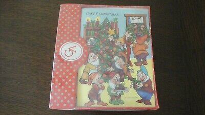 Vintage Grand Award Walt Disney Christmas Cards NEW