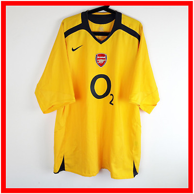 8fd67d70f07 Nike Arsenal Football Shirt XXXL 3XL Away Yellow The Gunners Soccer Jersey  2005