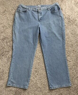 8fc106c4 LEE Womens Plus Size 22W Petite Relaxed Fit At the Waist Blue Jeans 29