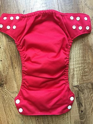 Blueberry All-in-One AIO cloth diaper all in one red gender neutral snaps