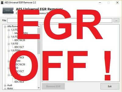 EGR REMOVER / DELETE  SOFTWARE Remap Yourself !