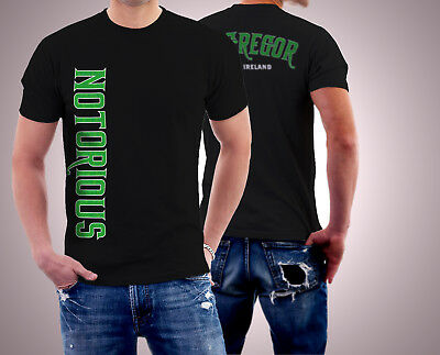 Conor McGregor Ireland MMA  UFC Fighter Notorious Men T-shirt