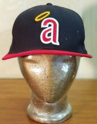 premium selection d4103 c4bab New Era 59Fifty Hat MLB Los Angeles Angels Baseball Throwback Cooperstown  7-1 8