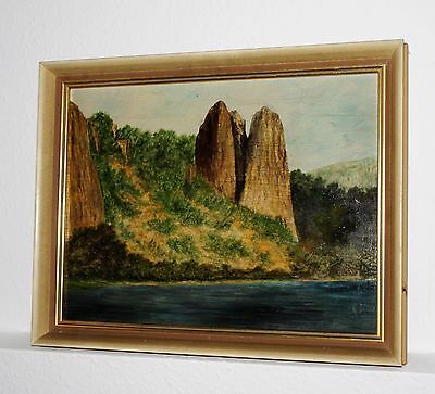 Rheingrafenstein Aquarell 1880 Bad Kreuznach
