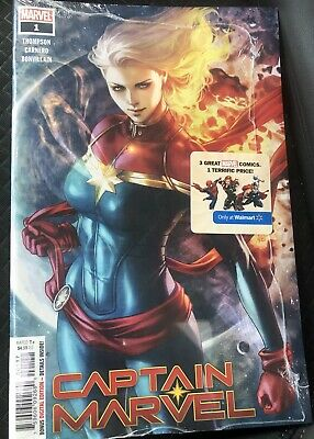 Captain Marvel #1 Walmart Exclusive Variant Artgerm Cover Long Hair Sealed Pack