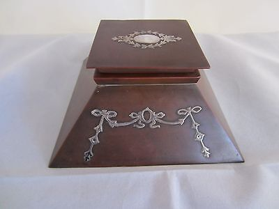 Arts & Crafts Silver on Copper Inkwell by Heintz