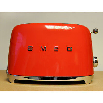 Smeg 50's Retro Style 2 Slice Toaster in Red, TSF01RDUK