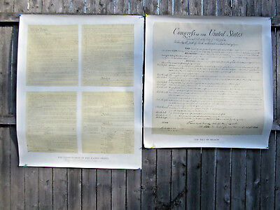 2 Copies Historical Posters-The Bill of Rights, The Constitution of the U.S. lot