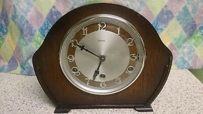 Federal Art Deco 8 Day Westminster Chimes Mantel Clock G.W.O