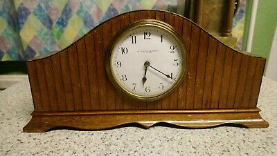 French 8 Day Mahogany Cased Mantel Clock For Restoration