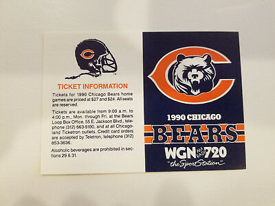 1982 CHICAGO CUBS Baseball Wgn Radio 720 Pocket Schedule