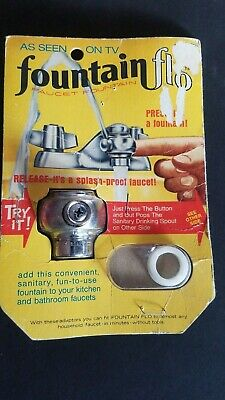 NEW IN PACKAGE Vintage Fountain Flo Drinking Fountain Faucet Attachment