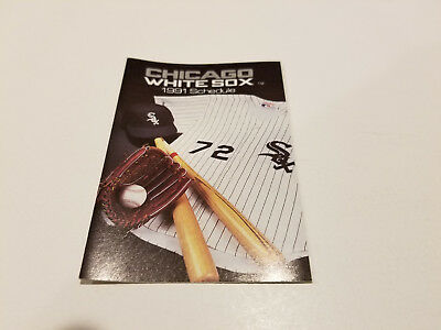 MLB 2019 CHICAGO White Sox Pocket Schedule 3 Different
