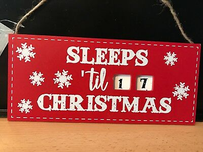 Days Till Christmas Chalkboard.Days Until Christmas Sleeps Till Santa Visits Chalkboard Countdown Plaque Sign