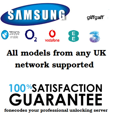 UNLOCK CODE SAMSUNG S7 Edge S7 S6 Edge S6 S5 ALL UK NETWORK EXPRESS SERVICE