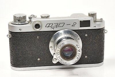 RARE rangefinder camera FED 2 with lens 50mm/ f 3,5,  based on Leica,