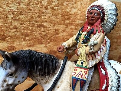 New Schleich Sioux Chief on Horse #70300 RARE Retired FREE SHIPPING!