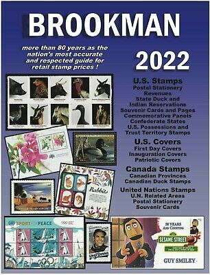 New 2020 Brookman Stamp Catalog US Canada + UN Spiral Color Price Guide List