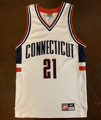quality design 028b6 c5df0 Rare Vintage Nike UCONN Connecticut Huskies Ricky Moore Basketball Jersey