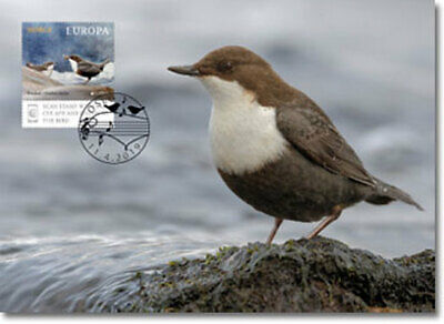 NORWAY 2019 CEPT EUROPA NATIONAL BIRDS  Maximum card  issue date 11-4-19
