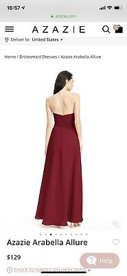 5f8ba57ce18 AZAZIE BRIDESMAID DRESS Size A4 Orchid Style Tobey - NEW IN BOX ...