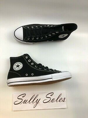 2344e6430fb2 Converse Chuck Taylor All Star Pro Black White Suede High Top Shoes Multi  Size