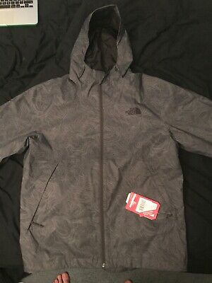 2f4a7a99be802 The North Face Men's Millerton Hooded Rain Jacket Small Asphalt Grey MSRP  $110