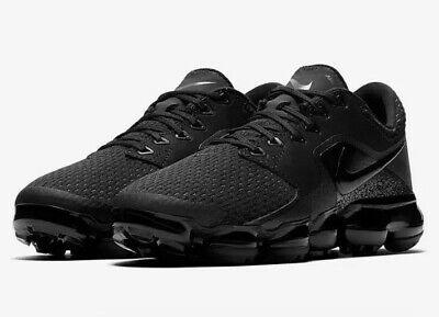 9a43cb94f5a Nike Air Vapormax Running Shoes Triple Black (GS) 917963 002 Youth Size 3.5Y