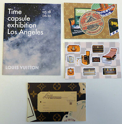 NEW 3 post cards + 1 Brochure COLLECTIBLE Louis Vuitton Time Capsule Los Angeles