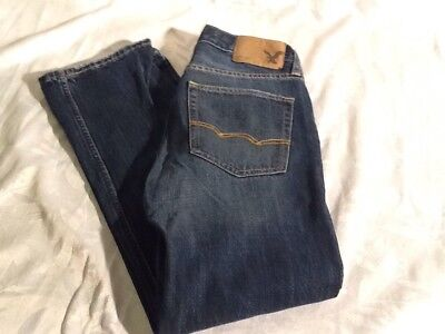 Youth American Eagle Original Straight Blue Jeans 26/28