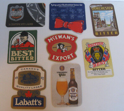8 Pub~Bar~Beer Mats~Drink Coasters~Lot~From Around The World~European & British