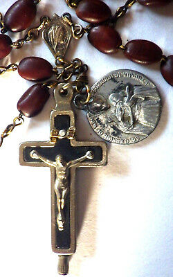 ⭐ Vintage Reliquary Relic Rosary Rosaries ✞ Vatican Cross Crucifix ☧ Passionist