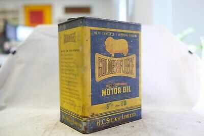 Vintage Golden Fleece Oil Can Antique Rare Collectable 1 Piece (Lot: 99)