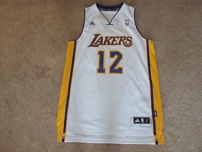 611954e63 ADIDAS NBA JERSEY Los Angeles Lakers Dwight Howard White sz XL ...