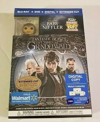 Fantastic Beasts:The Crimes Of Grindelwald  Blu-ray + DVD + Digital Copy + Funko