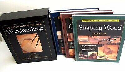 Taunton Press Complete Illustrated Guide to Woodworking NEW 3 Volume Set Sealed