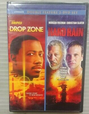 Drop Zone/Hard Rain DVD NEW Rare OOP Double Feature Wesley Snipes Randy Quaid