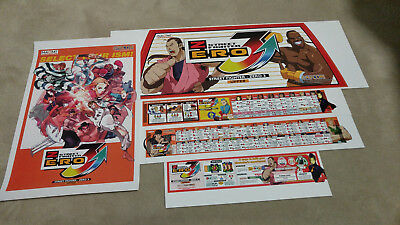 2001 Capcom Street Fighter Zero 3 Upper Header Arcade Gaming Collectibles