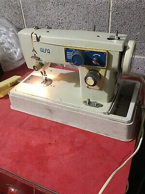 Vintage ALFA Elecric Operated Zigzag Sewing Machine