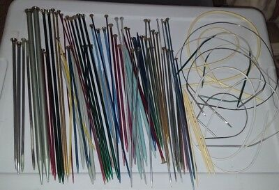 LOT Knitting Needles 50+ SETS Long SHORT Circular PAIRS Colors DOUBLE POINTS